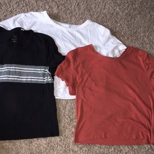 3 cropped T's
